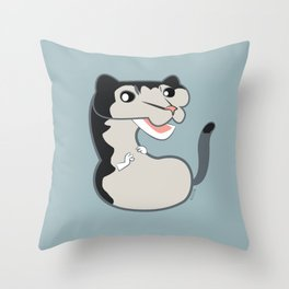 Neovison mink black cross Throw Pillow