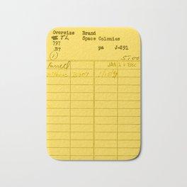 Library Card 797 Yellow Bath Mat