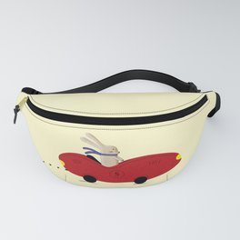 Rabbit and his car Fanny Pack