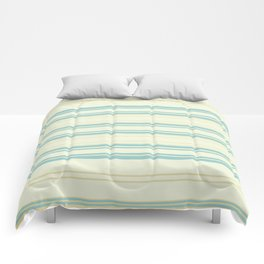 Yellow Blue Teal Strips Comforters