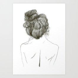 Messy Bun Art Prints Society6