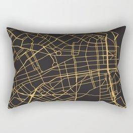 BUENOS AIRES ARGENTINA GOLD ON BLACK CITY MAP Rectangular Pillow