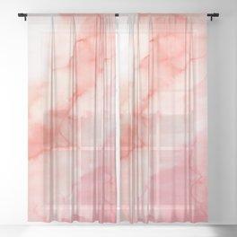 Warm pink waters Sheer Curtain