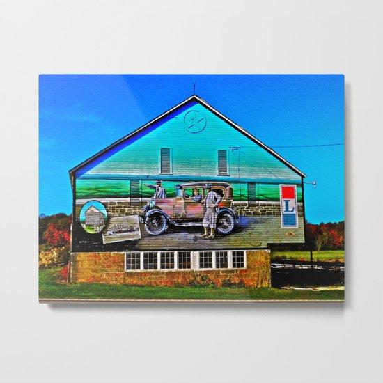 Lincoln Highway Barn Metal Print