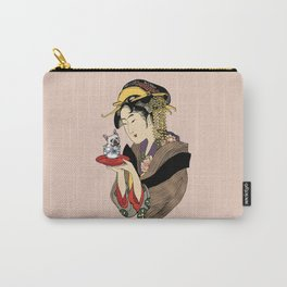 Tea time with Frenchie Carry-All Pouch