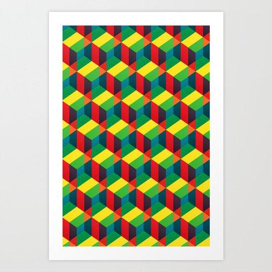Construct (colour) Art Print