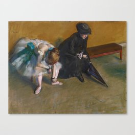 Edgar Degas - Waiting Canvas Print