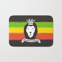 Rasta Lion Bath Mat
