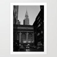 Grand Central Station, Chrysler Building, New York City Art Print