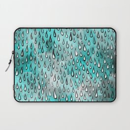 Aqua Raindrops Laptop Sleeve