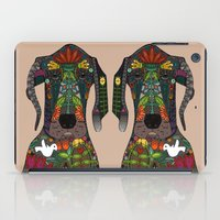 great dane iPad Cases featuring Great Dane love beige by Sharon Turner