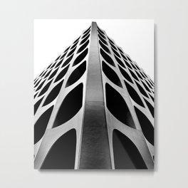 Venetian Modern on Wilshire: Monochrome Metal Print