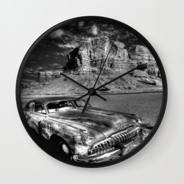 Silver Ride Wall Clock