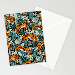 Bengal Tiger Teal Jungle Stationery Cards