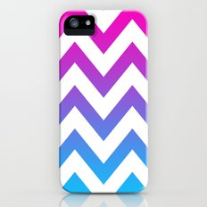 PINK & TEAL CHEVRON FADE Slim Case iPhone (5, 5s)