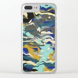 Marble Saudade Clear iPhone Case