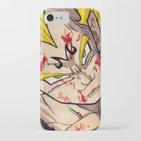 vegeta iPhone & iPod Cases featuring Vegeta by DeMoose_Art