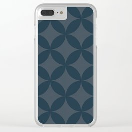 Blue geometry 2 Clear iPhone Case