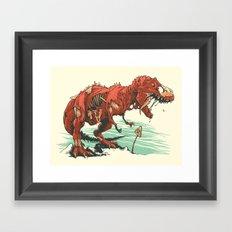 Nuclear t-Rex Framed Art Print
