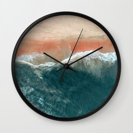 Tropical Drone Beach Photography Wall Clock