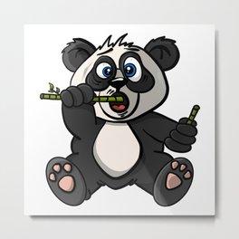 Maxx The Panda - Cartoon Animals Metal Print