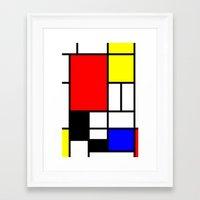 mondrian Framed Art Prints featuring Mondrian by Fine2art