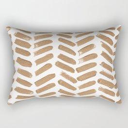 Gold Chevron Rectangular Pillow