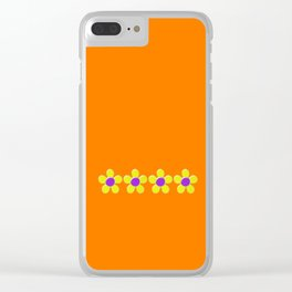 Spring Daisies Jelly Art - Orange Purple Yellow Clear iPhone Case