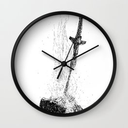 Bonefire Lit Wall Clock