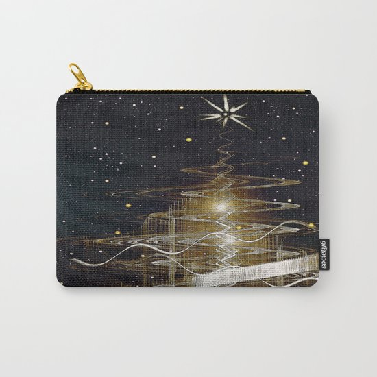 Christmas  Fractal Tree Carry-All Pouch