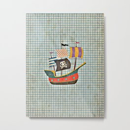 Vintage Pirates Metal Print