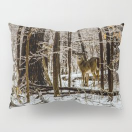 Deer in the Glistening Forest by Teresa Thompson Pillow Sham