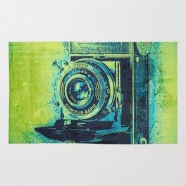 Green Retro Vintage Kodak Camera Rug