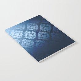 """""""Navy blue Damask Pattern"""" Notebook"""