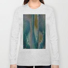 Industrial Wings in Teal Long Sleeve T-shirt