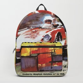 Mille Miglia, Race Poster, Vintage Poster, car poster Backpack