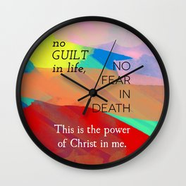 Colors that stain Wall Clock
