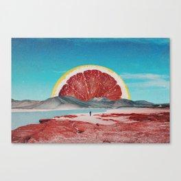 Grapefruit Beach Canvas Print