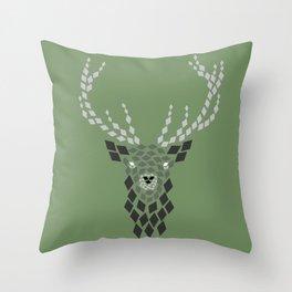 Diamond Mosaic Stag Throw Pillow