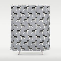 schnauzer shower curtains | society6