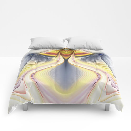 Fractal Waves 2 Comforters