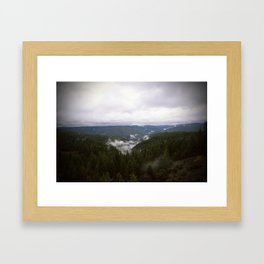 Fog Settling In The Tahoe National Forest Framed Art Print