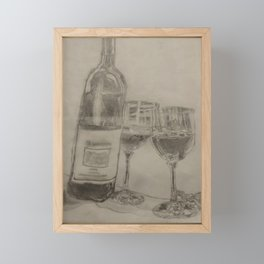 Fine Wine Framed Mini Art Print