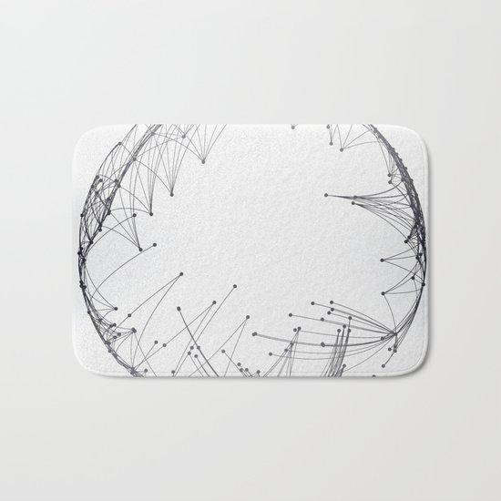 Minimal Geometric Circle Bath Mat