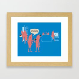 Sausage Party Framed Art Print