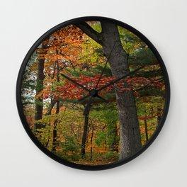 Deep Autumn Heat Wall Clock