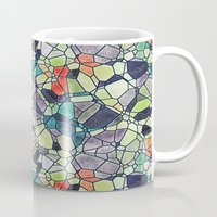 stained glass Mugs featuring stained glass by kociara