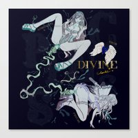 pisces Canvas Prints featuring PISCES by Chandelina