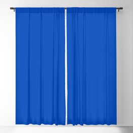 Absolute Zero - Blue Solid Color Blackout Curtain