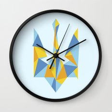 Ukraine Geometry Wall Clock